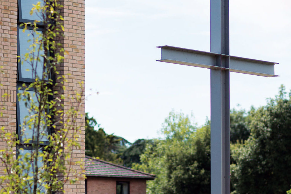 The Cross structure outside our Wessex Auditorium