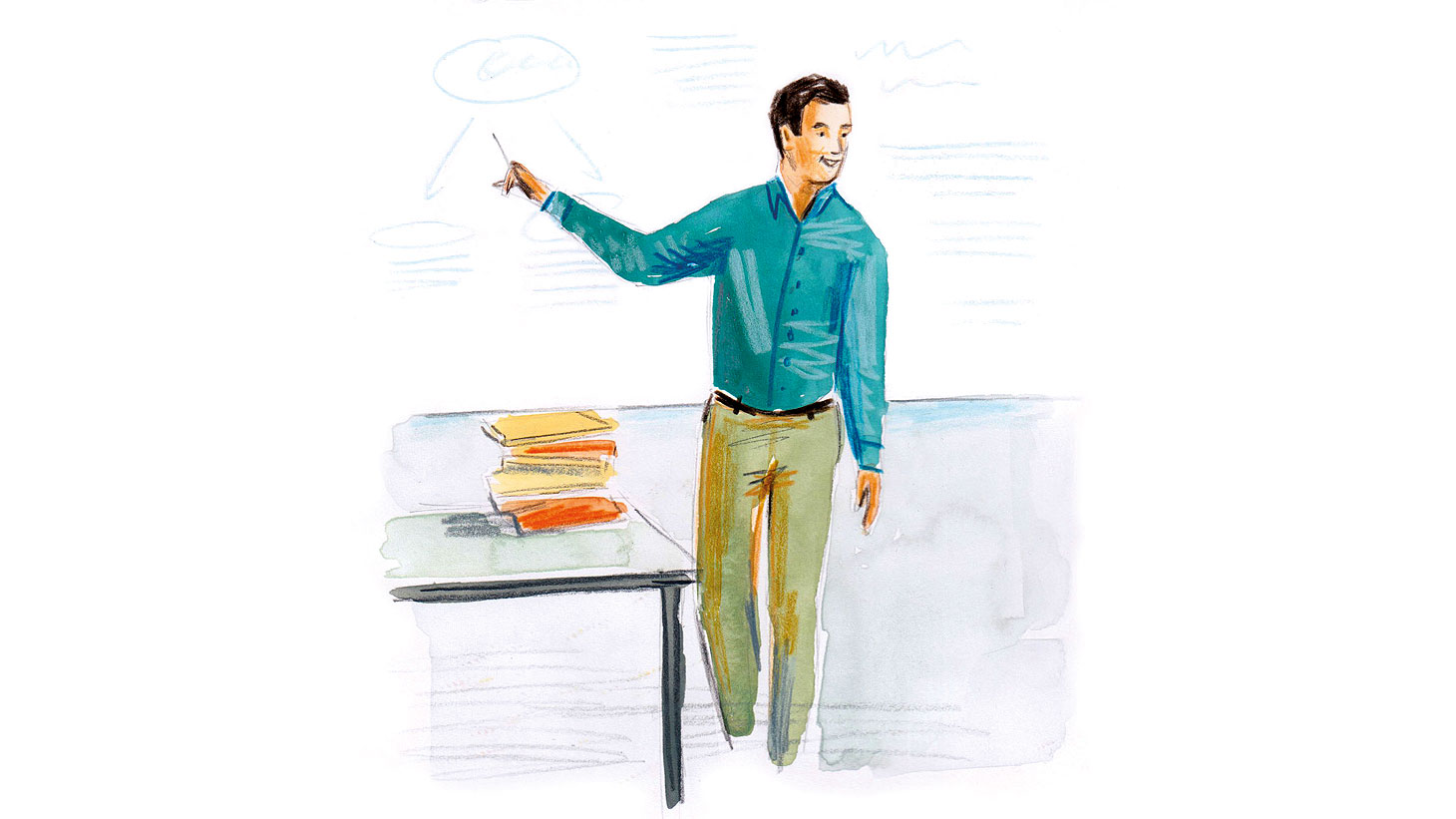 Illustration of educator by Elisa Cunningham