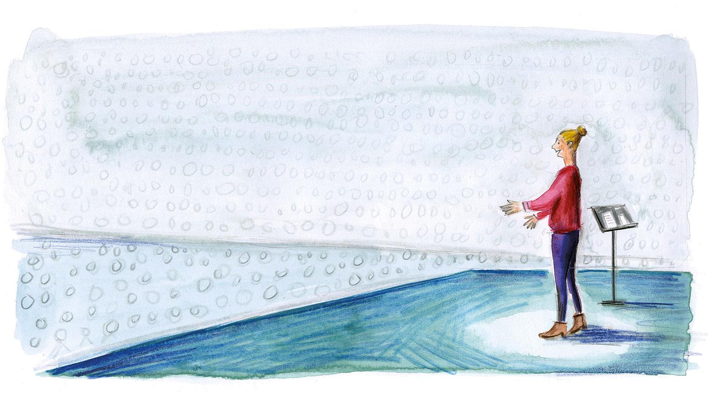 Illustration of evangelist by Elisa Cunningham
