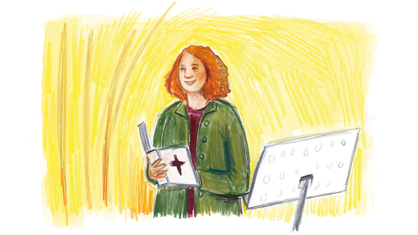 Illustration of pastor by Elisa Cunningham